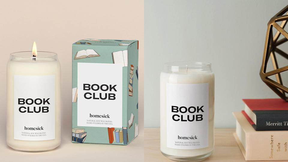 Best gifts for book lovers: Book club candle