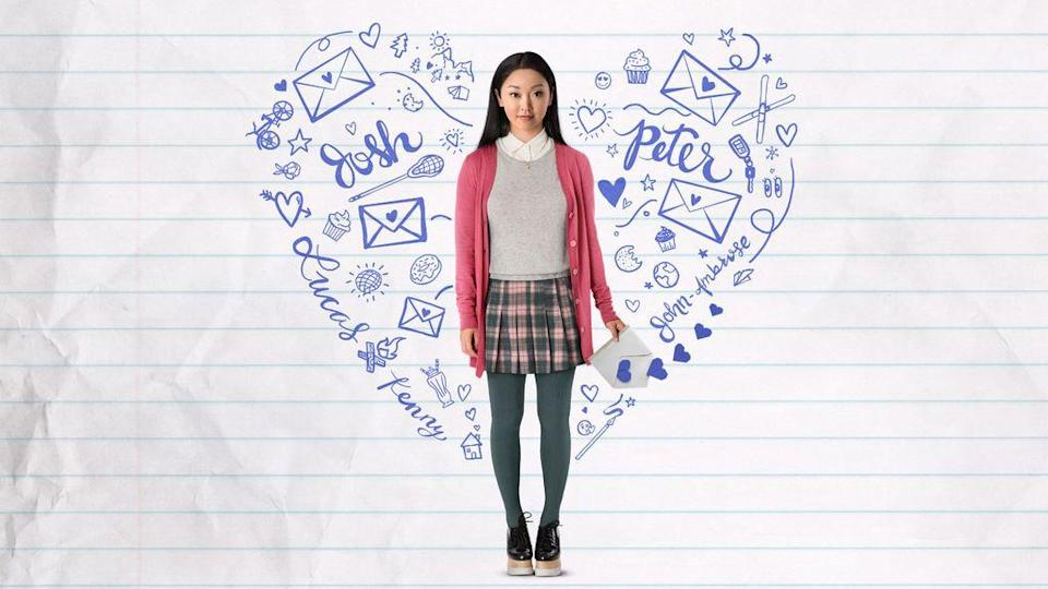 "<p>By now, you probably know the tale of Lara Jean, whose meddling sister mails personal letters to her all-time top-five crushes. But this is the movie that first gave Noah Centineo to the world, so there is absolutely no harm in watching it again. </p><p><a class=""link rapid-noclick-resp"" href=""https://www.netflix.com/watch/80203147"" rel=""nofollow noopener"" target=""_blank"" data-ylk=""slk:WATCH NOW"">WATCH NOW</a><br></p><p><strong>RELATED:</strong> <a href=""https://www.goodhousekeeping.com/life/entertainment/g25575811/romantic-movies-netflix/"" rel=""nofollow noopener"" target=""_blank"" data-ylk=""slk:The Best Romantic Movies on Netflix"" class=""link rapid-noclick-resp"">The Best Romantic Movies on Netflix </a></p>"