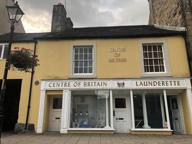 Middle ground: the Centre of Britain Launderette in Haltwhistle: Simon Calder