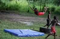 """The circus school trains 19 """"student artists"""" aged from eight to 14, most coming from the local neighbourhood"""