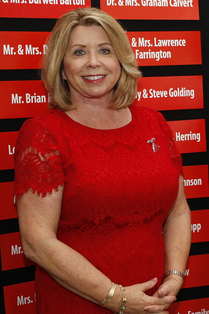 This May 4, 2017 photograph, shows Nancy New, owner and Director of the Mississippi Community Education Center (MCEC) and New Learning, Inc., at a social function in Jackson, Miss. Special agents from the office of State Auditor, have arrested New and several others in connection with a multi-million dollar embezzlement scheme. The indictments include a range of violations involving fraud and embezzlement. (Sarah Warnock/The Clarion-Ledger via AP)