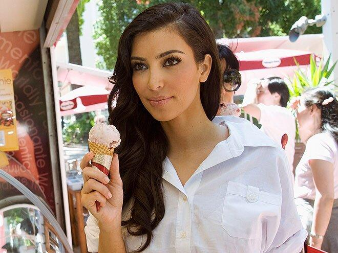 "Kim called their dulce de leche flavor her ""favorite thing in life"" in an <a href=""http://www.harpersbazaar.com/culture/features/a10567/kim-kardashian-0515/"">interview</a> with <em>Harper's Bazaar</em>, and has often been photographed at various store locations during her travels – most notably in Paris with <a href=""/tag/kanye-west/"">Kanye West</a> in the <a href=""http://greatideas.people.com/2014/05/21/kim-kardashian-kanye-west-wedding-diet-burgers-ice-cream/"">days leading up</a> to their <a href=""http://greatideas.people.com/2014/05/20/kim-kardashian-kanye-west-wedding-ice-cream-recipe/"">wedding.</a>"
