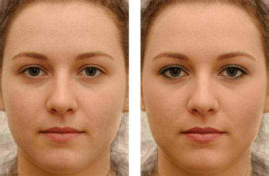 Men and women reacted differently to photos of women with and without makeup in the study. (Photo courtesy of Alex Jones)