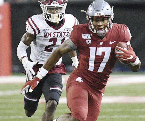 Kassidy Woods informed Washington State that he would not be playing this season due to coronavirus concerns. (Robert Johnson/Icon Sportswire via Getty Images)