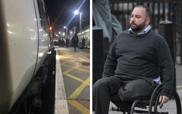 Matthew Robinson, 34, was on his way home from work in London when he fell into the