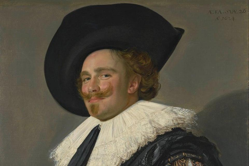 Detail from The Laughing Cavalier  ( Trustees of the Wallace Collection, London)