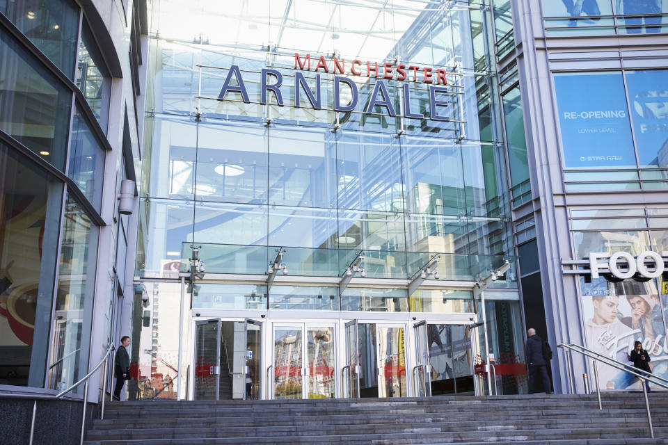 Manchester, UK - 4 May 2017: Exterior Of The Arndale Shopping Centre In Manchester UK
