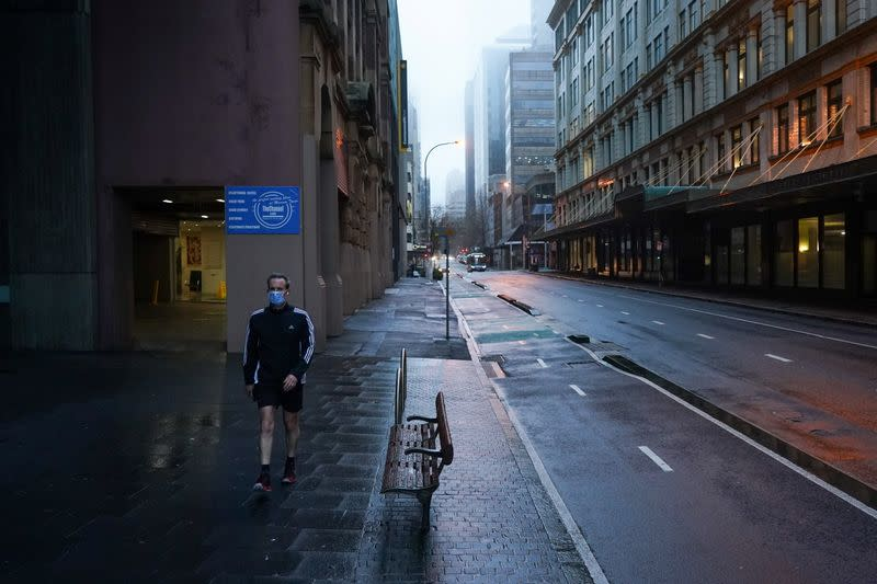 A COVID-19 lockdown as outbreak of new cases affects Sydney