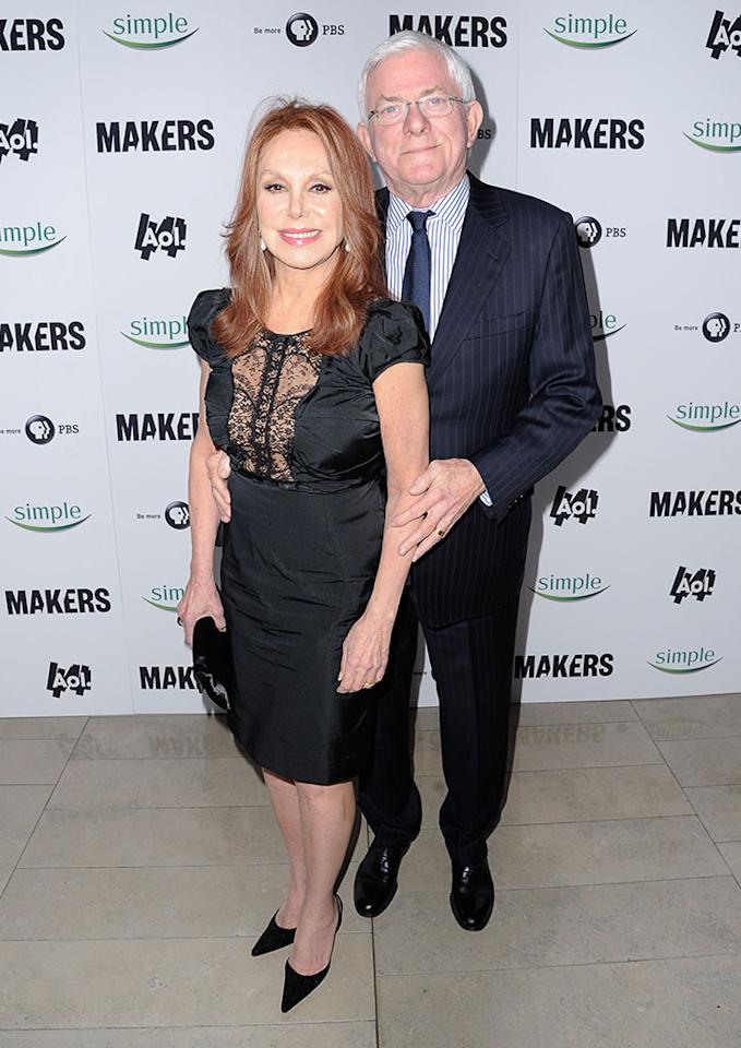 "Marlo Thomas and Phil Donahue arrive at ""MAKERS: Women Who Make America"" New York Premiere at Alice Tully Hall on February 6, 2013 in New York City."