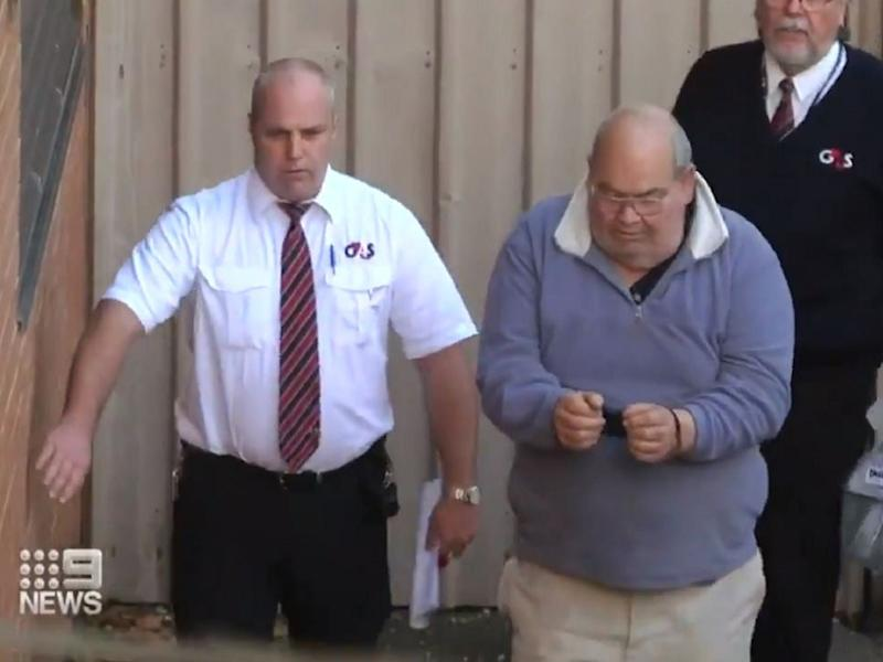 Screen grab from 9 News video of Peter Dansie, 71, who has been jailed for 25 years without parole after murdering his wheelchair-bound wife Helen Dansie, 67, in 2017 by pushing her wheelchair into a pond in Adelaide, Australia: 9 News/screen grab