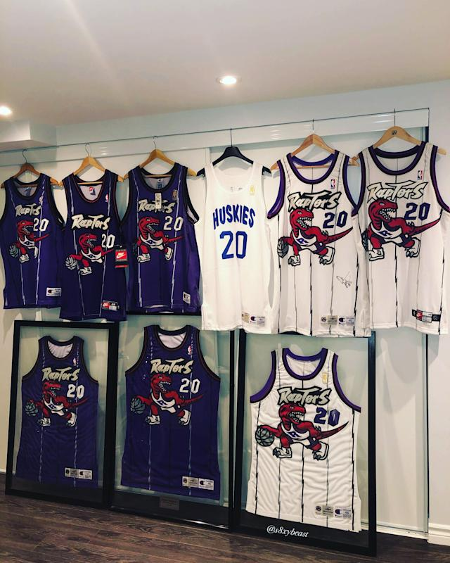 Kai's Raptors jersey collection is something else.