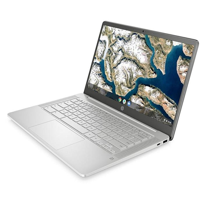 HP 14a-na0010ca 14-inch Chromebook. Image via Staples.