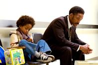 """<p>Something about this heart-wrenching, inspiring true tale, starring a real-life father and son, gets us right where we live during the holidays. Will Smith plays a single father, a hard-working but broke salesman facing homelessness, who scores an internship at a stock brokerage. Despite facing incredible challenges, his determination and intelligence give him an edge over his peers, but the movie isn't really about stocks, or even about poverty. It's about a father's love under harsh circumstances. And it's about making every single person who watches it cry like a silly baby. </p> <p><a href=""""https://www.amazon.com/Pursuit-Happyness-Will-Smith/dp/B000OW77UU"""" rel=""""nofollow noopener"""" target=""""_blank"""" data-ylk=""""slk:Available to stream on Amazon Prime Video"""" class=""""link rapid-noclick-resp""""><em>Available to stream on Amazon Prime Video</em></a></p>"""