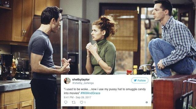 """Will & Grace"" didn't pull any punches in its revival's first episode, and social media was in stitches."