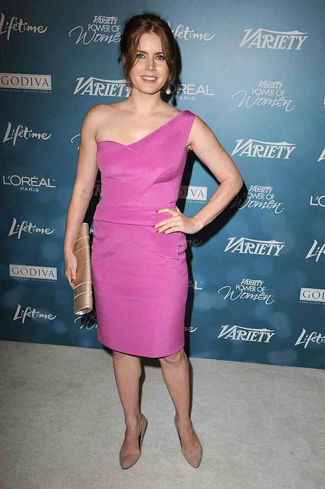 """Another of <i>Variety</i>'s Lifetime Impact Honorees was a pretty in pink Amy Adams, who received kudos for her involvement with The Ghetto Film School, an organization established to educate, develop, and celebrate the next generation of great American storytellers. Steve Granitz/<a href=""""http://www.wireimage.com"""" target=""""new"""">WireImage.com</a> - September 30, 2010"""