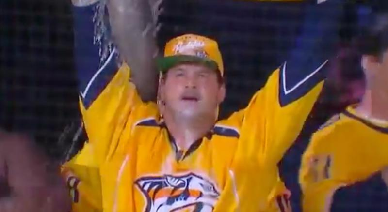 Titans Linemen Chug Beer Out of Catfish ... at Predators Game