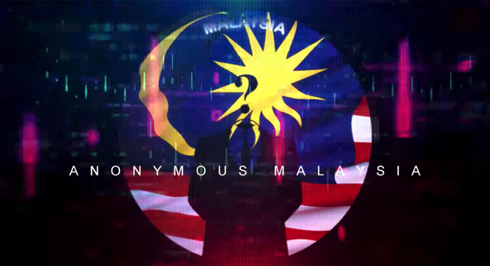 The hacker group Anonymous Malaysia has resurfaced after a long absence. — Facebook screenshot
