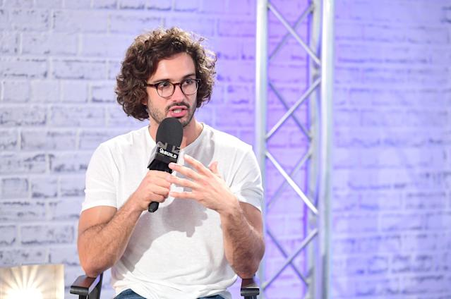 Joe Wicks speaking at an AOL BUILD series London event at AOL's Capper Street in London. (Photo by Ian West/PA Images via Getty Images)