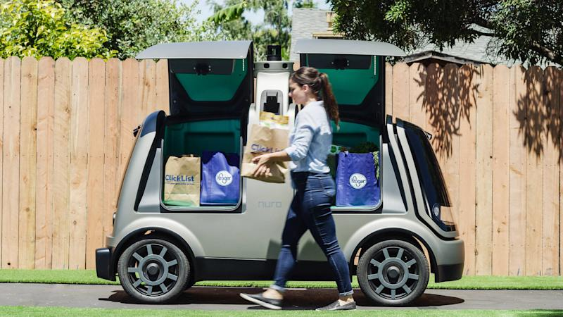 Kroger Nuro driverless grocery delivery service
