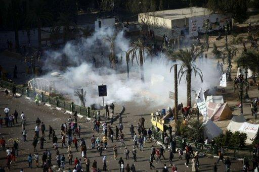 Clashes between police and protesters raged on with the two sides exchanging volleys of tear gas and stones
