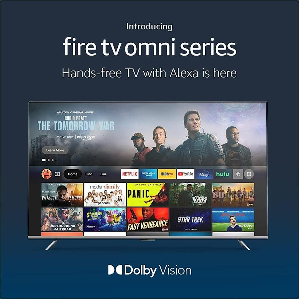 """<p>If you're in the market for a new TV, the <span>Amazon Fire TV 65"""" Omni Series 4K UHD smart TV</span> ($830) is Amazon's first-ever in-house smart TV. Consume all your entertainment in one place, from watching live and streaming TV and movies to playing video games and music. The Alexa-enabled smart TV can do more than just entertain, including control your smart home.</p>"""