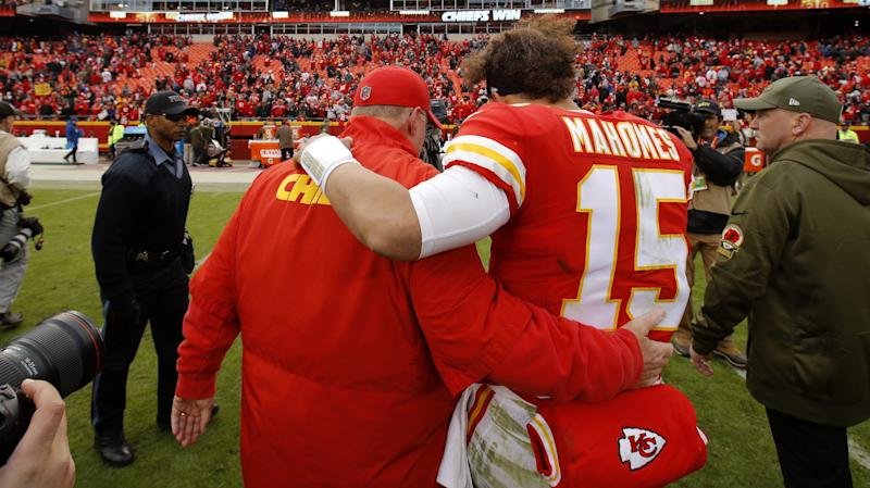 Mahomes's girlfriend's stepdad died at Chiefs game