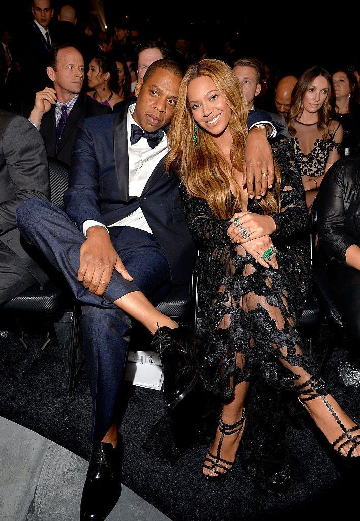 <p>The couple cosied up while sat in the audience for the show.</p>