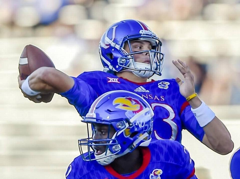 Kansas quarterback Ryan Willis completed 62 percent of his passes for 811 yards with three touchdowns and seven interceptions in the 2016 season.