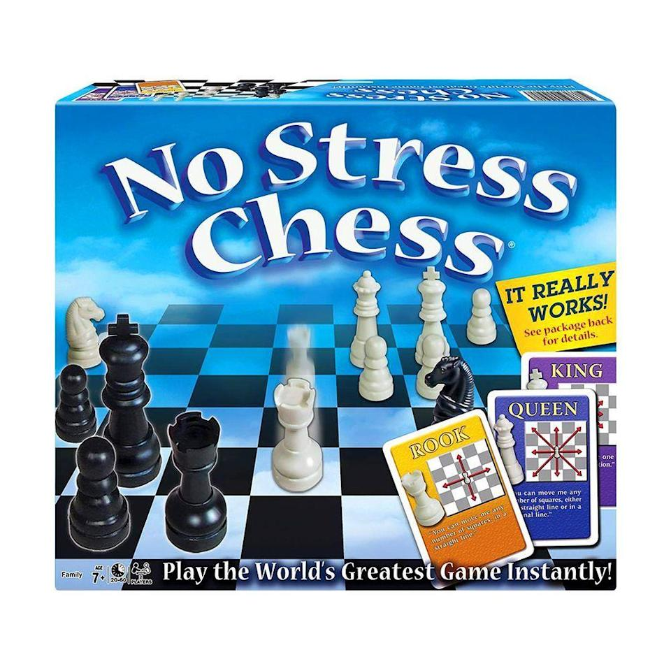 """<p><strong>Winning Moves Games</strong></p><p>amazon.com</p><p><strong>$14.99</strong></p><p><a href=""""https://www.amazon.com/dp/B0007Q1IO4?tag=syn-yahoo-20&ascsubtag=%5Bartid%7C2089.g.985%5Bsrc%7Cyahoo-us"""" rel=""""nofollow noopener"""" target=""""_blank"""" data-ylk=""""slk:Shop Now"""" class=""""link rapid-noclick-resp"""">Shop Now</a></p><p>With more than a thousand rave reviews on Amazon, this classic strategy game is a hit with parents who get to pass along their love of chess to their kids.<br></p>"""