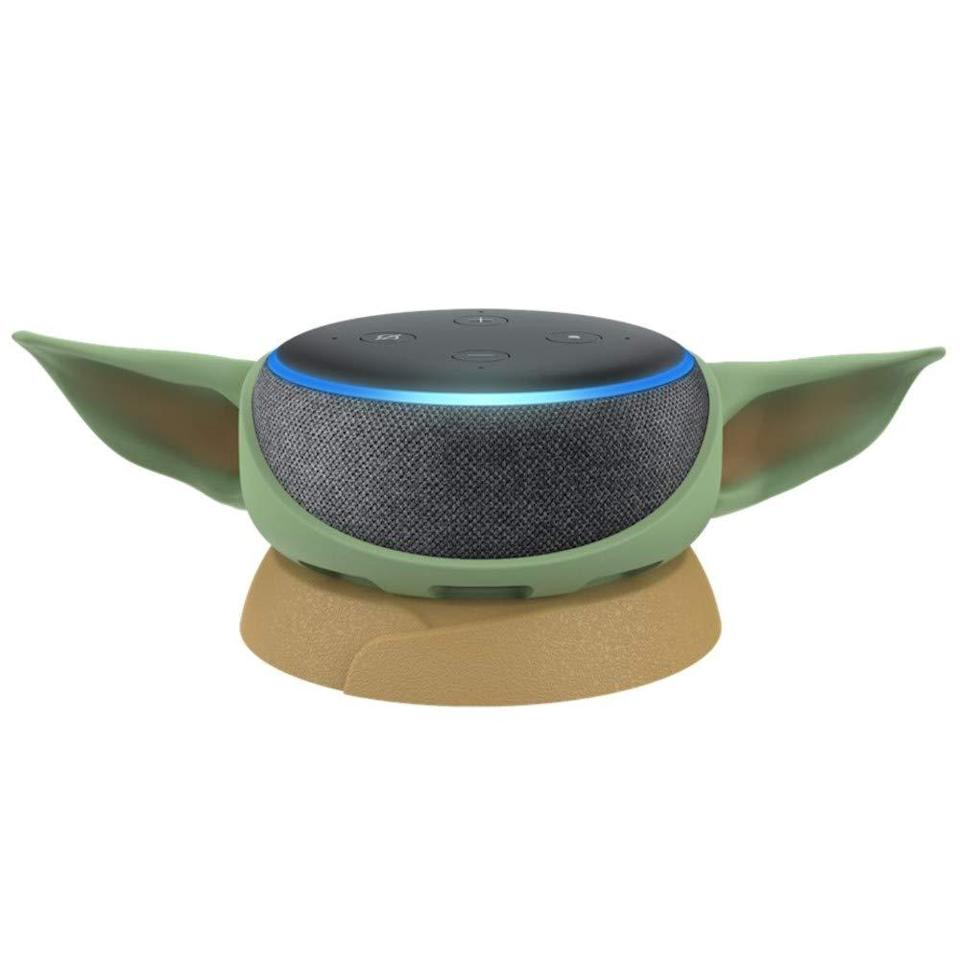 """<br><br><strong>Amazon</strong> Echo Dot (3rd Gen) with Mandalorian The Child Stand, $, available at <a href=""""https://amzn.to/3jRmiSi"""" rel=""""nofollow noopener"""" target=""""_blank"""" data-ylk=""""slk:Amazon"""" class=""""link rapid-noclick-resp"""">Amazon</a>"""