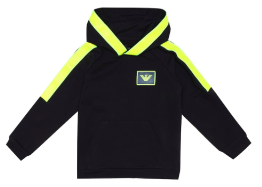 Emporio Armani Kids cotton-blend hoodie, S$171, (was S$285), 40% off. PHOTO: Mytheresa