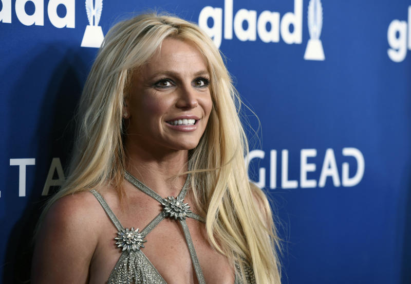 Britney Spears shares foot break video