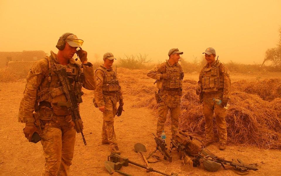 UK troops deployed to Mali seize a cache of weapons hidden by suspected Daesh terrorists