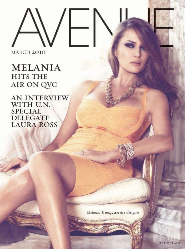 Melania Trump wears her jewelry line on the cover of Avenue Magazine in March 2010. (Photo: Avenue Magazine)