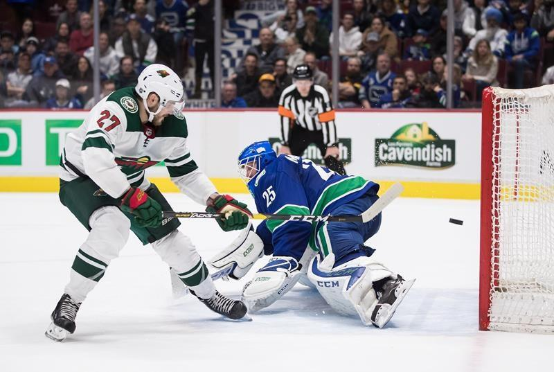 Wild beat Canucks 4-3, Canucks tie for second place in Pacific Division