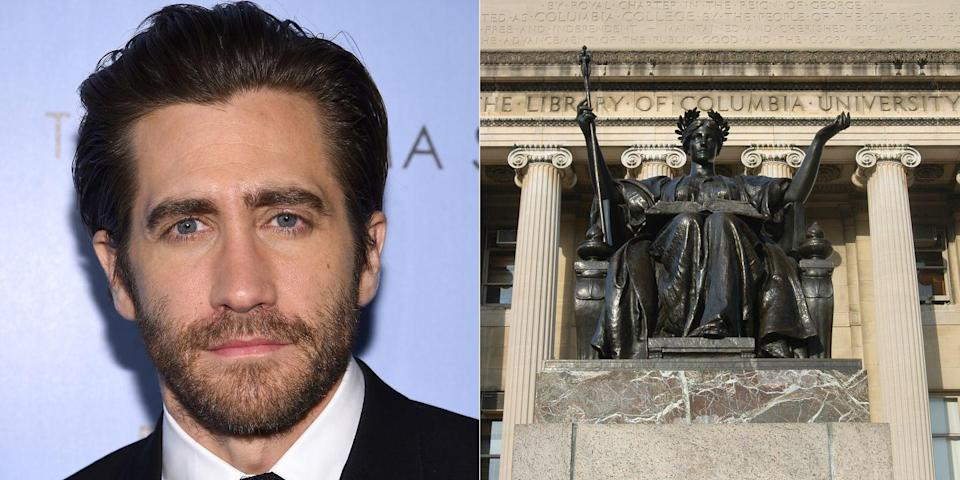 <p><strong>Columbia University</strong></p><p>Gyllenhaal studied for a year at Columbia University before dropping out to pursue acting.</p>