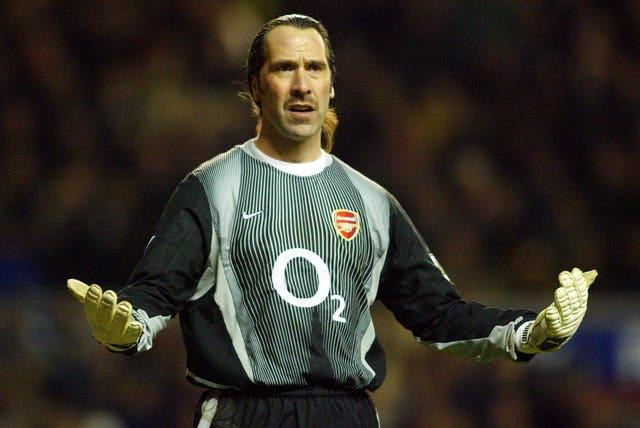 Former Arsenal goalkeeper David Seaman in action