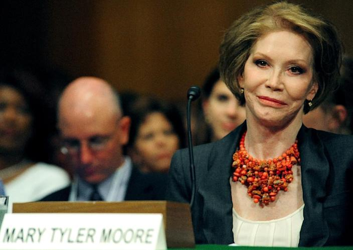 US actress Mary Tyler Moore, pictured in 2009, was a passionate advocate for the Juvenile Diabetes Research Foundation (AFP Photo/KAREN BLEIER)