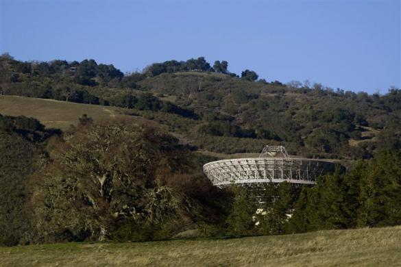 The Jamesburg Earth Station is seen in Cachagua Valley, near Carmel, California, February 23, 2012. The earth station, which helped bring Apollo 11's first images from the moon, was an important link for the nation's television, telephone and military networks from 1968 to 2002. Current owner Jeff Bullis, a Silicon Valley businessman, is selling the 97-foot satellite receiver and a 21,718 square foot bunker-like support building on 161 acres of land for close to $3 million.