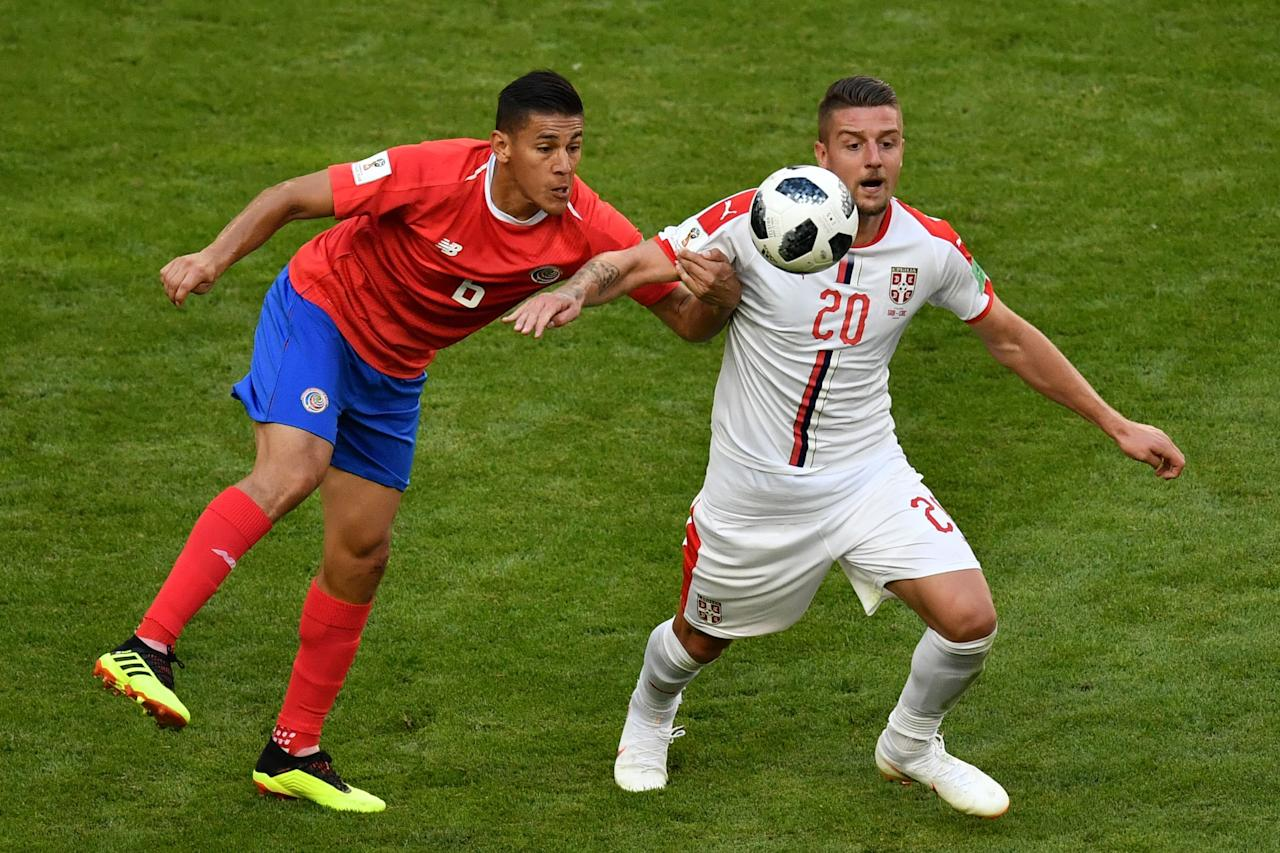 <p>Serbian youngster Milinkovic-Savic was the standout player as his country began their World Cup campaign in perfect fashion (Getty Images) </p>