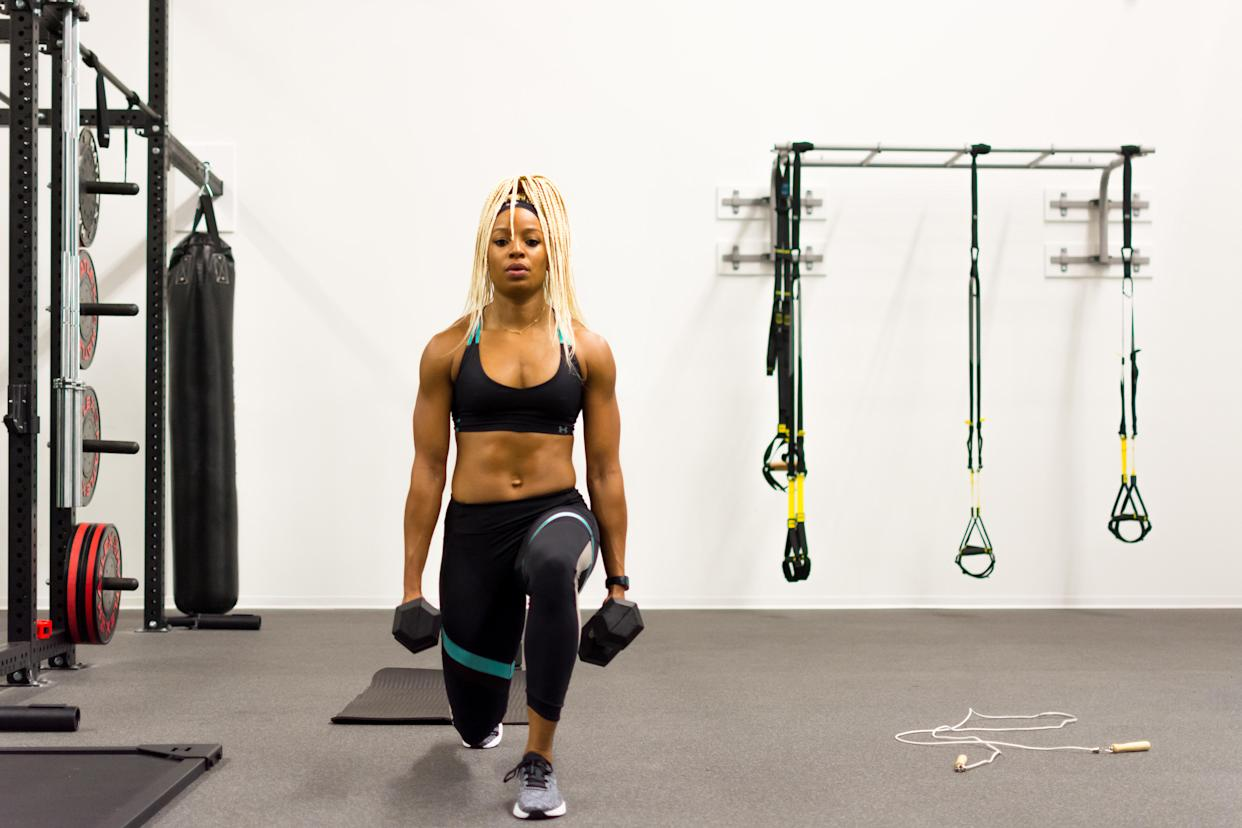 Former track and field Olympian Natasha Hastings said The Workout was a catalyst in helping to understand her body while pregnant and following the birth of her son. (Photo by Under Armour)