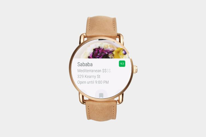 Foursquare Android Wear app