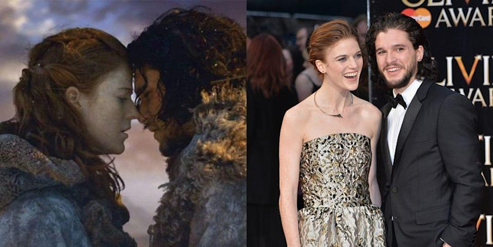 <p><strong>The show:</strong> <em>Game of Thrones</em> (2011-present)</p><p>They met on set in 2012 while filming the second season of the acclaimed HBO show. Their illicit on-screen affair became a real romance, and the two tied the knot in Scotland earlier this year.</p>