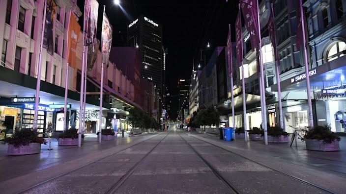 Melbourne's normally bustling city centre is now deserted