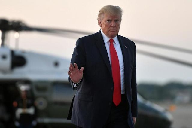 US President Donald Trump has pressured Congress to change asylum rules in order to deter the flow of migrants across the US southern border (AFP Photo/MANDEL NGAN)