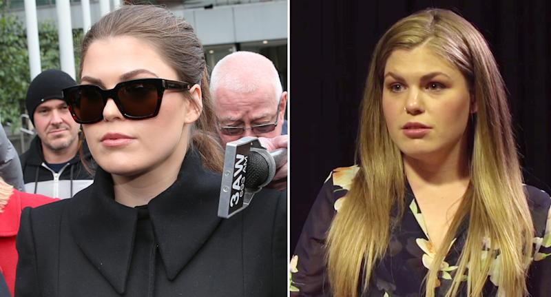 Belle Gibson has had her Melbourne home raided after she refused to pay a more than $500,000 fine. Source: AAP