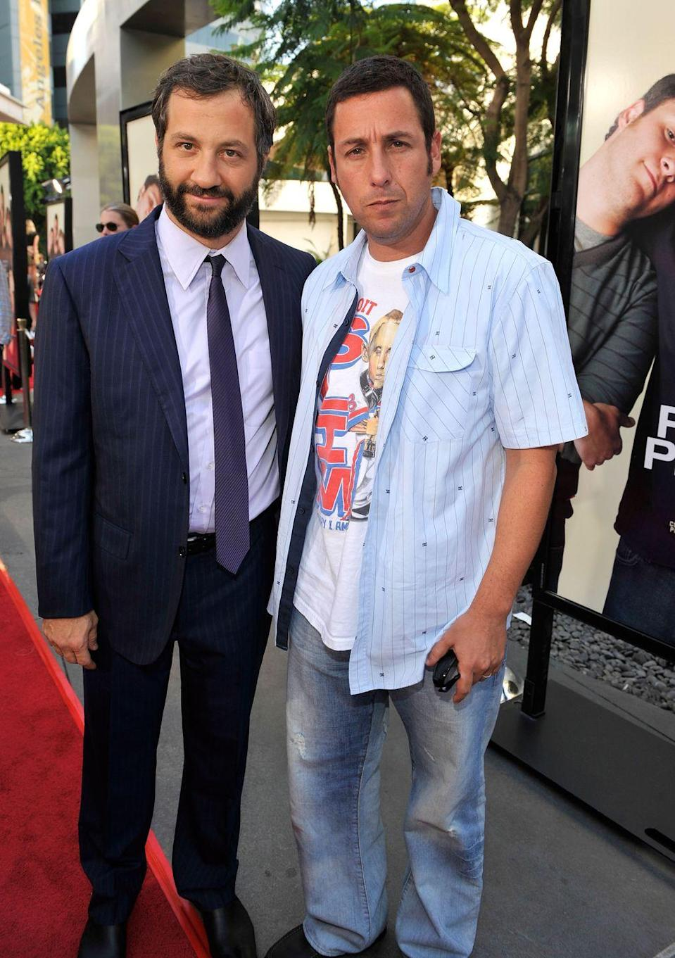 """<p>The comedians <a href=""""https://www.hollywoodreporter.com/live-feed/adam-sandler-judd-apatow-spill-407141"""" rel=""""nofollow noopener"""" target=""""_blank"""" data-ylk=""""slk:split the rent on a $900 apartment"""" class=""""link rapid-noclick-resp"""">split the rent on a $900 apartment</a> in San Fernando Valley before Sandler moved to New York City. """"We were doing as comedians good enough to get by,"""" Sandler said. """"We could eat at Red Lobster once every month. That was a big night out.""""</p>"""