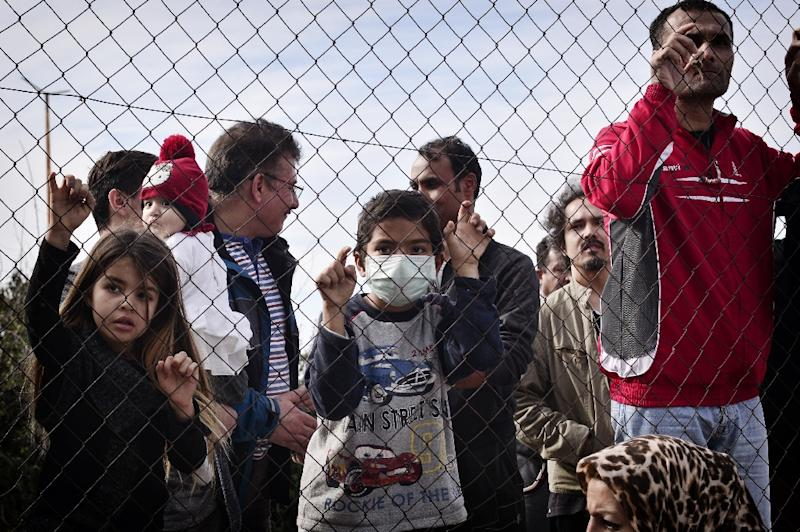 The thorny issue of how to deal with migrants remains a key topic for the six-month presidency of Austria (AFP Photo/LOUISA GOULIAMAKI)