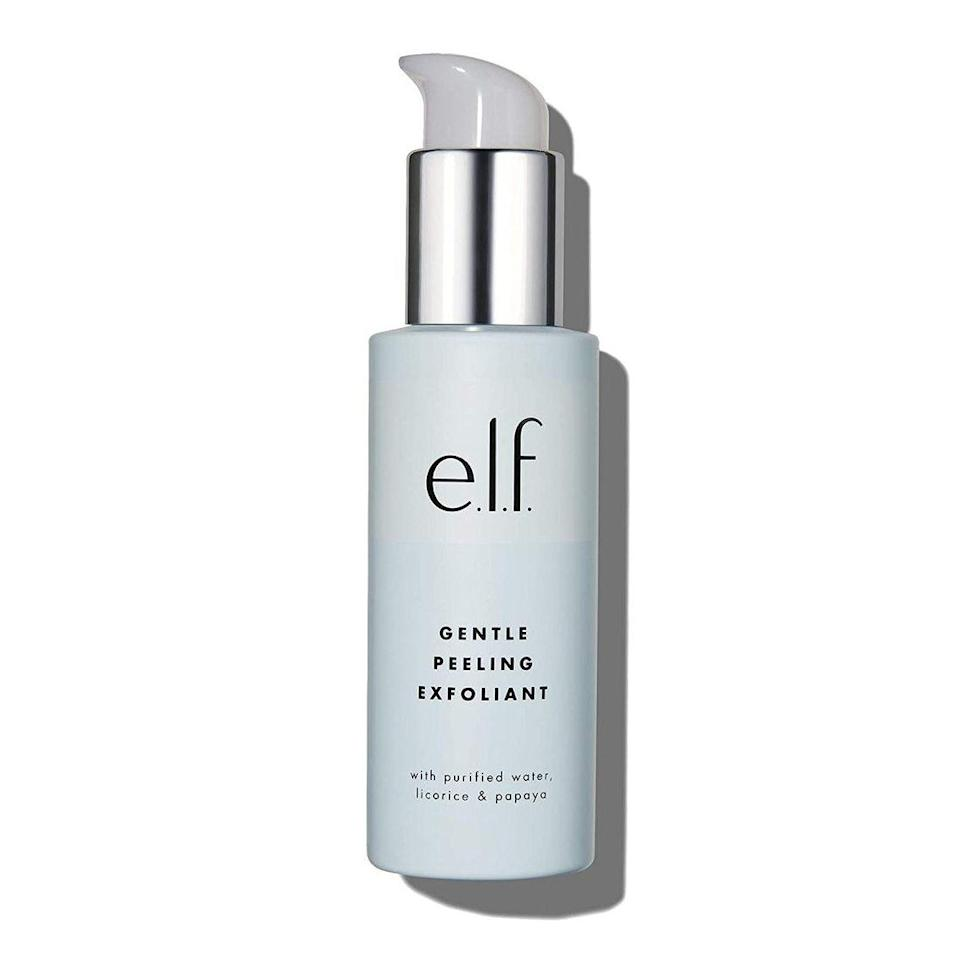 """Another Best of Beauty winner, <a href=""""https://www.allure.com/review/elf-gentle-peeling-exfoliant?mbid=synd_yahoo_rss"""" rel=""""nofollow noopener"""" target=""""_blank"""" data-ylk=""""slk:E.L.F. Cosmetics's Gentle Peeling Exfoliant"""" class=""""link rapid-noclick-resp"""">E.L.F. Cosmetics's Gentle Peeling Exfoliant</a> looks to a combination of brightening licorice root, exfoliating papaya extract, and antioxidant-enriched tangerine extract to protect skin and reveal a smoother, brighter complexion in seconds."""