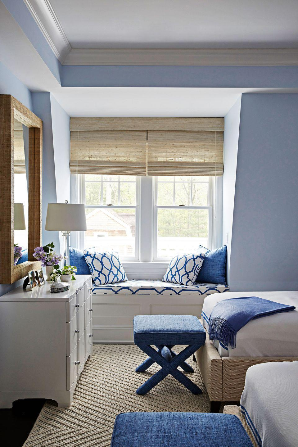 <p>A built-in reading nook in the main bedroom will earn you some major bonus points, style-wise and beyond. It gives the space added intrigue and makes it feel more personalized. Just add throw pillows. </p>